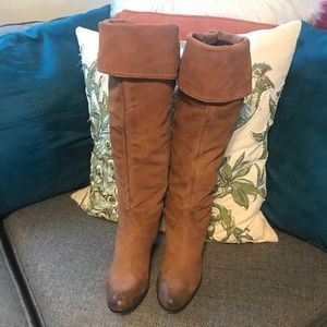 Vince Camuto Tan Suede Convertible Boot size 10